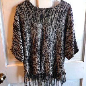 Brittany Black Poncho Sweater